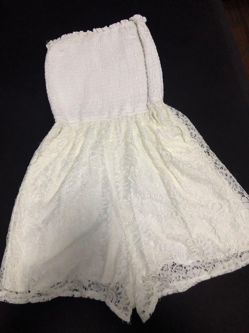 ca799027ff Abercrombie lace smocked romper jumpsuit, Women's Fashion, Clothes ...