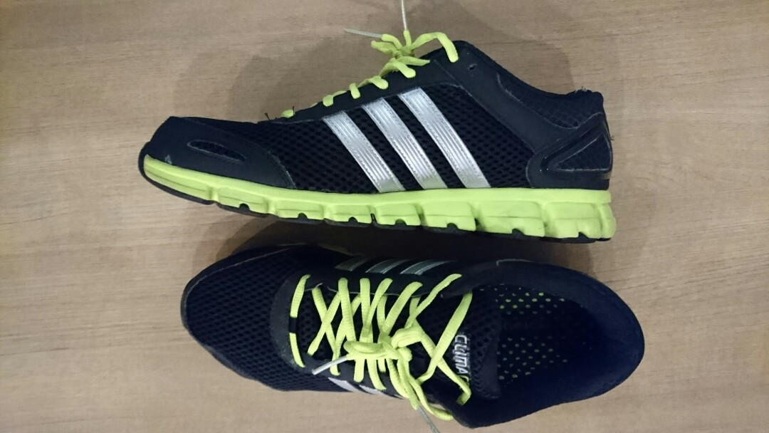 acac07b841ff Adidas Climacool Ride Running Shoes (Silver Stripe Black with Green ...