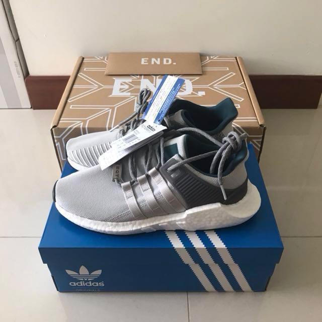 Adidas eqt sostegno 93 / 17 saldatura pack grey, moda maschile