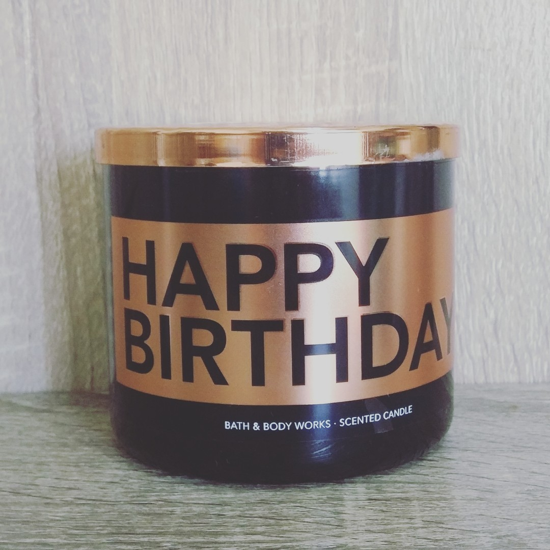 BBW Happy Birthday 3 Wick Scented Candle Home Furniture On Carousell