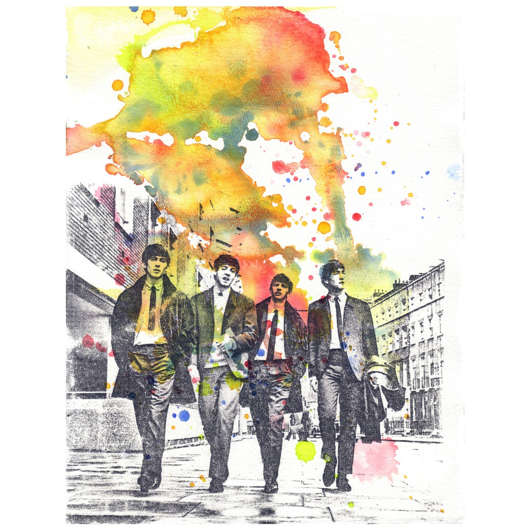 beatles abstract art posters design craft art prints on carousell