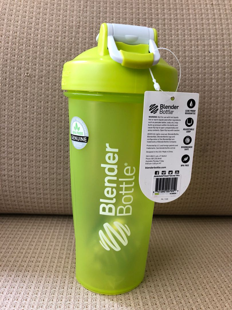 BN - BlenderBottle Classic Shaker Bottle 28-Ounce Loop Top Green