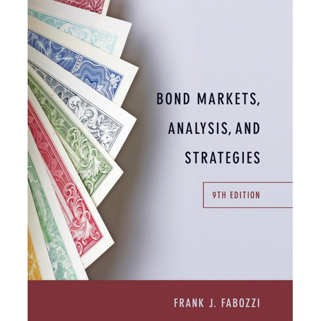 Bond Markets, Analysis, and Strategies 9th Edition (Frank Fabozzi )