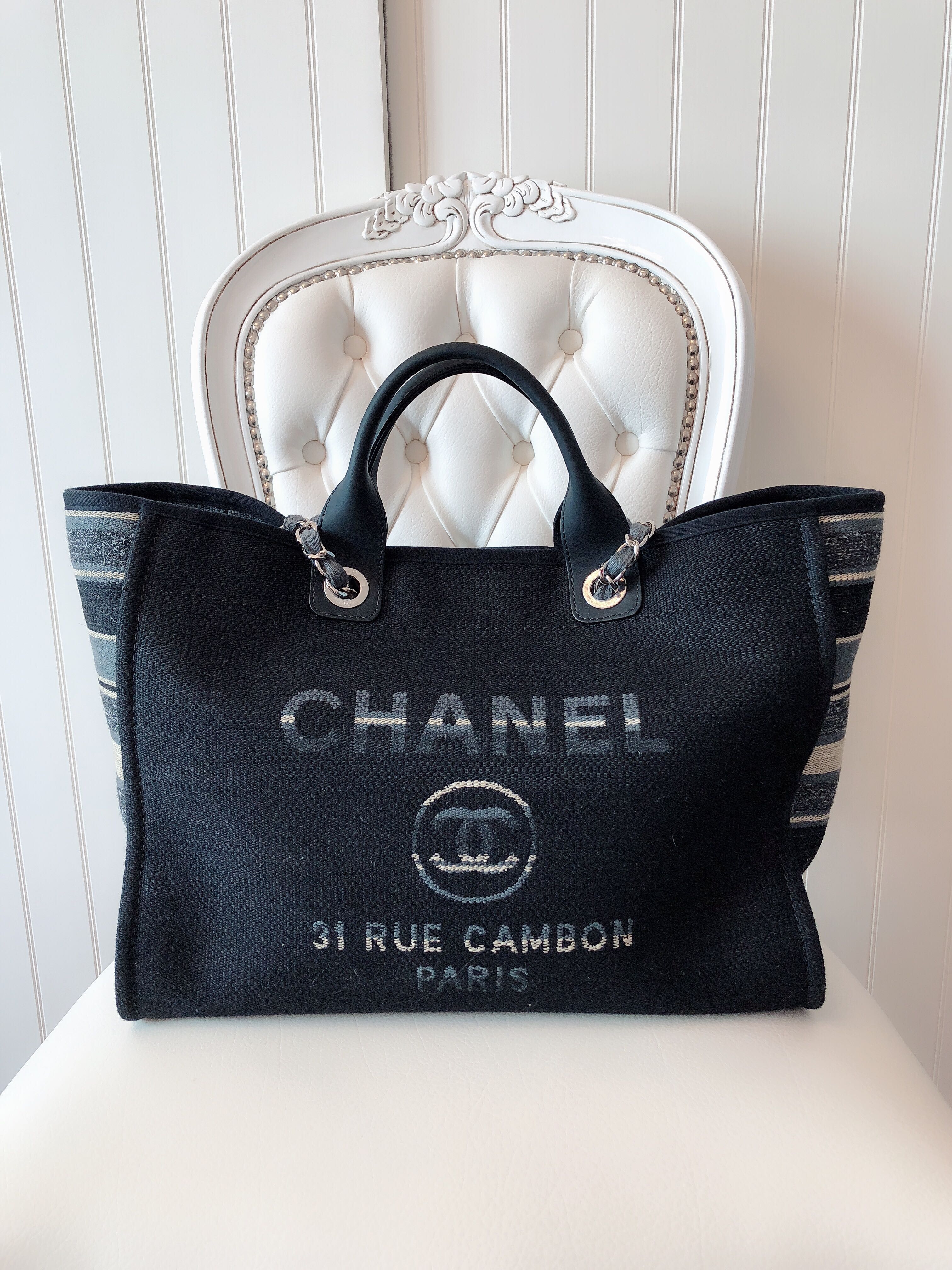 11184604122c84 Chanel Deauville Tote Large, Luxury, Bags & Wallets, Handbags on ...