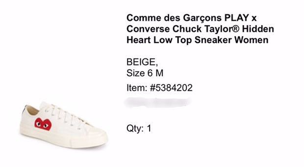 427cfa411bbbfa Comme des Garcons Play x Converse Chuck Taylor Hidden heart low cut ...