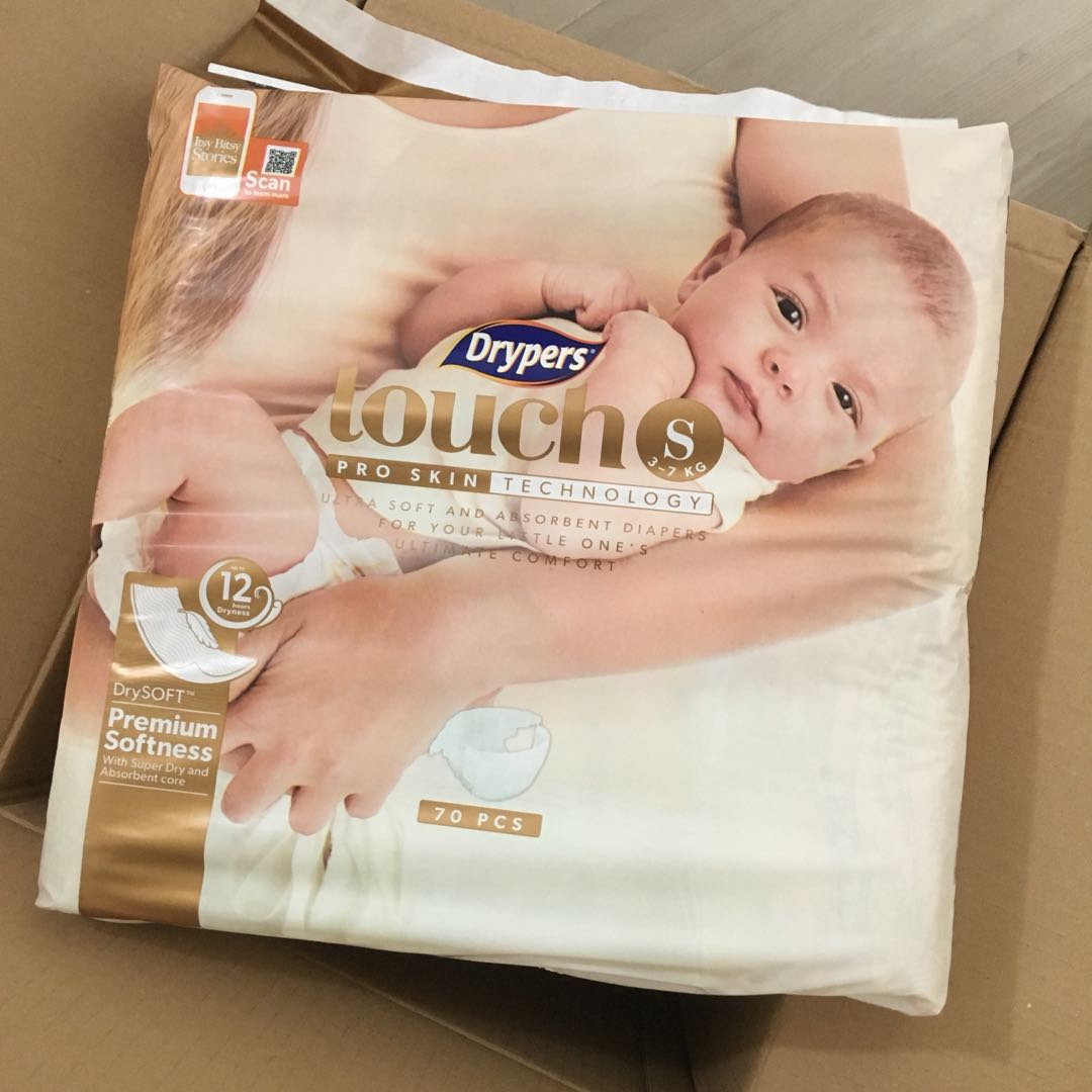 5c78982772c4 Drypers Touch diaper Size S