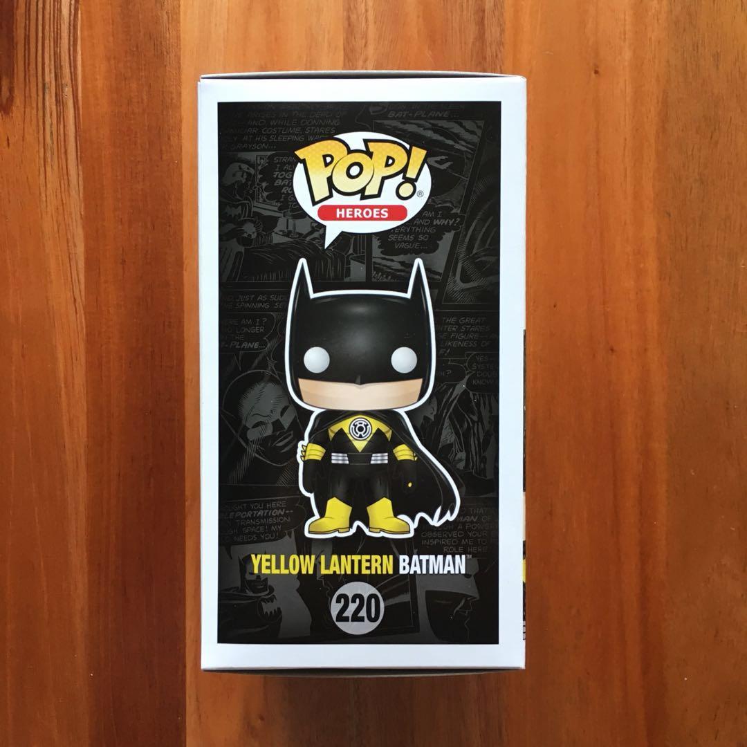 Funko Pop Yellow Lantern Batman Toys Games Bricks Figurines Comics Hellboy In Suit Sdcc Share This Listing
