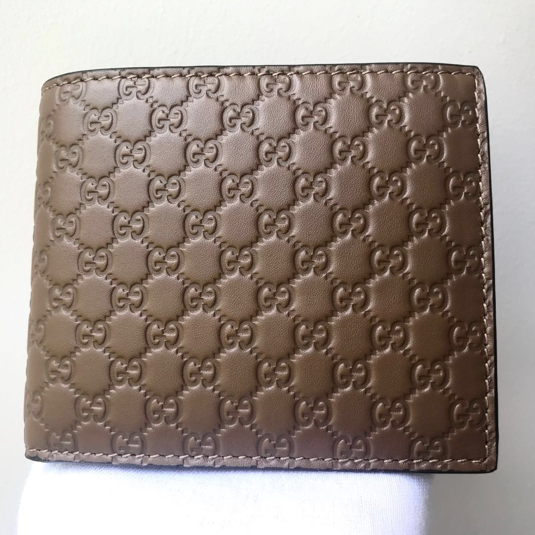 85fc01d6087 GUCCI Men s Brown Guccissima Leather Bifold Wallet 100% AUTH+BRAND ...