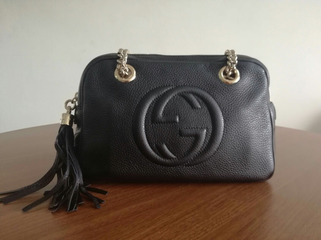 ec36483c0f5 Gucci Soho Chain (Black Leather)