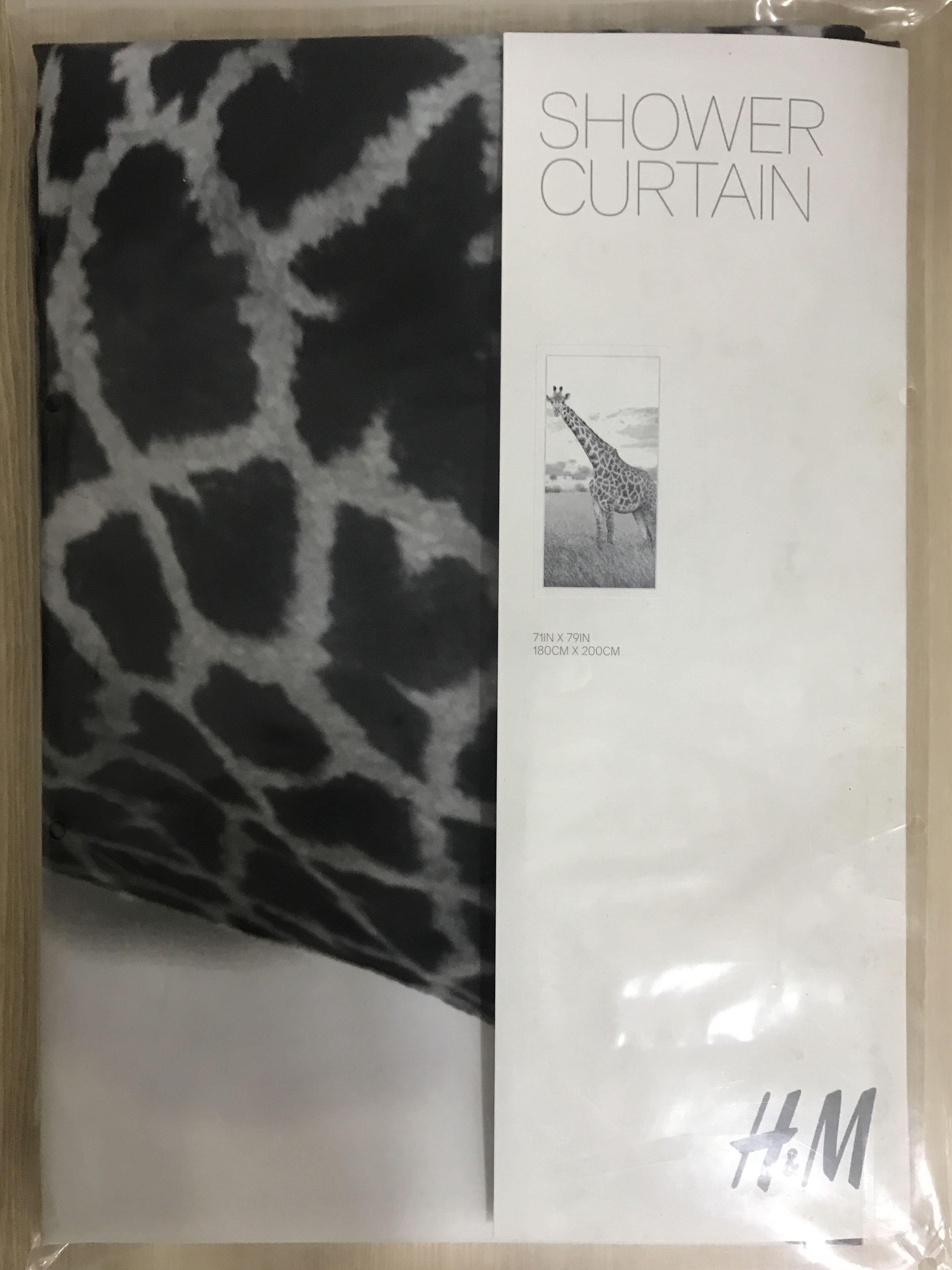 HM Shower Curtain Giraffe 180cmx200cm Everything Else On Carousell