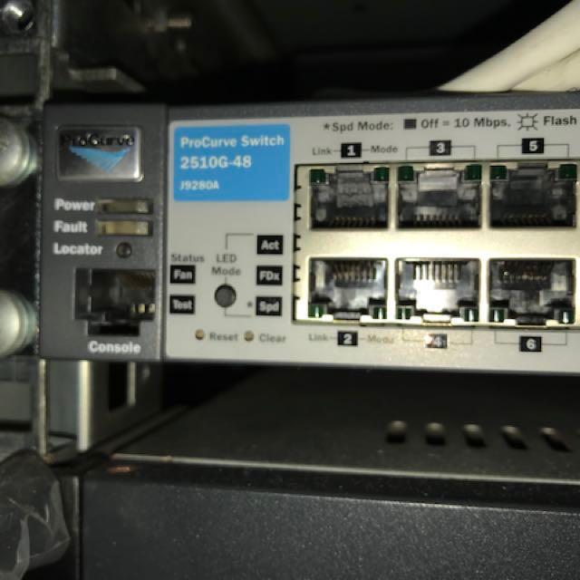 HP Procurve 2510G-48 48 port switch
