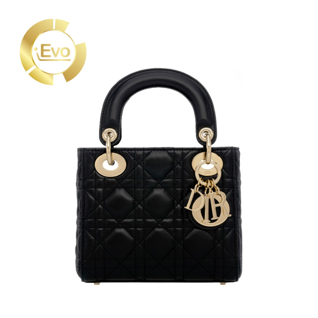 8acee8ca56f14 INSTALMENT PLAN  DIOR MINI LADY DIOR BAG IN BLACK LAMBSKIN