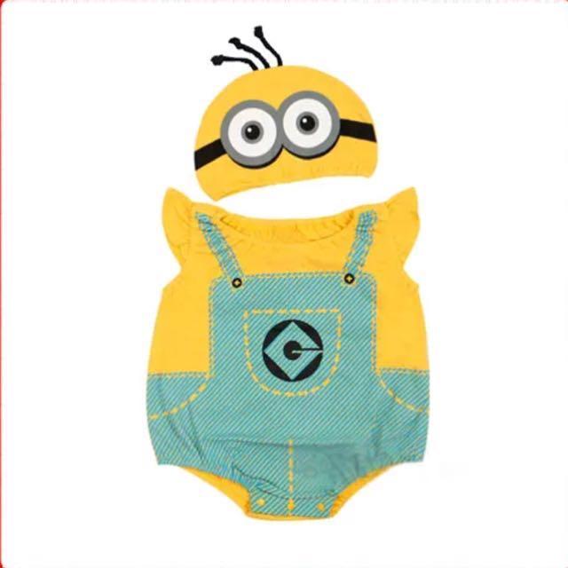 73d4b13650e8 INSTOCK - Minion Baby Romper   Onesie