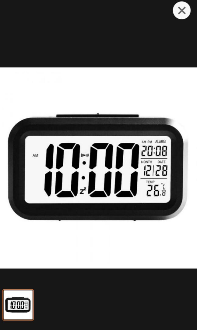 Jam Meja Digital with Alarm / Smart Digital LCD-LED Alarm Cl, Home & Furniture on Carousell