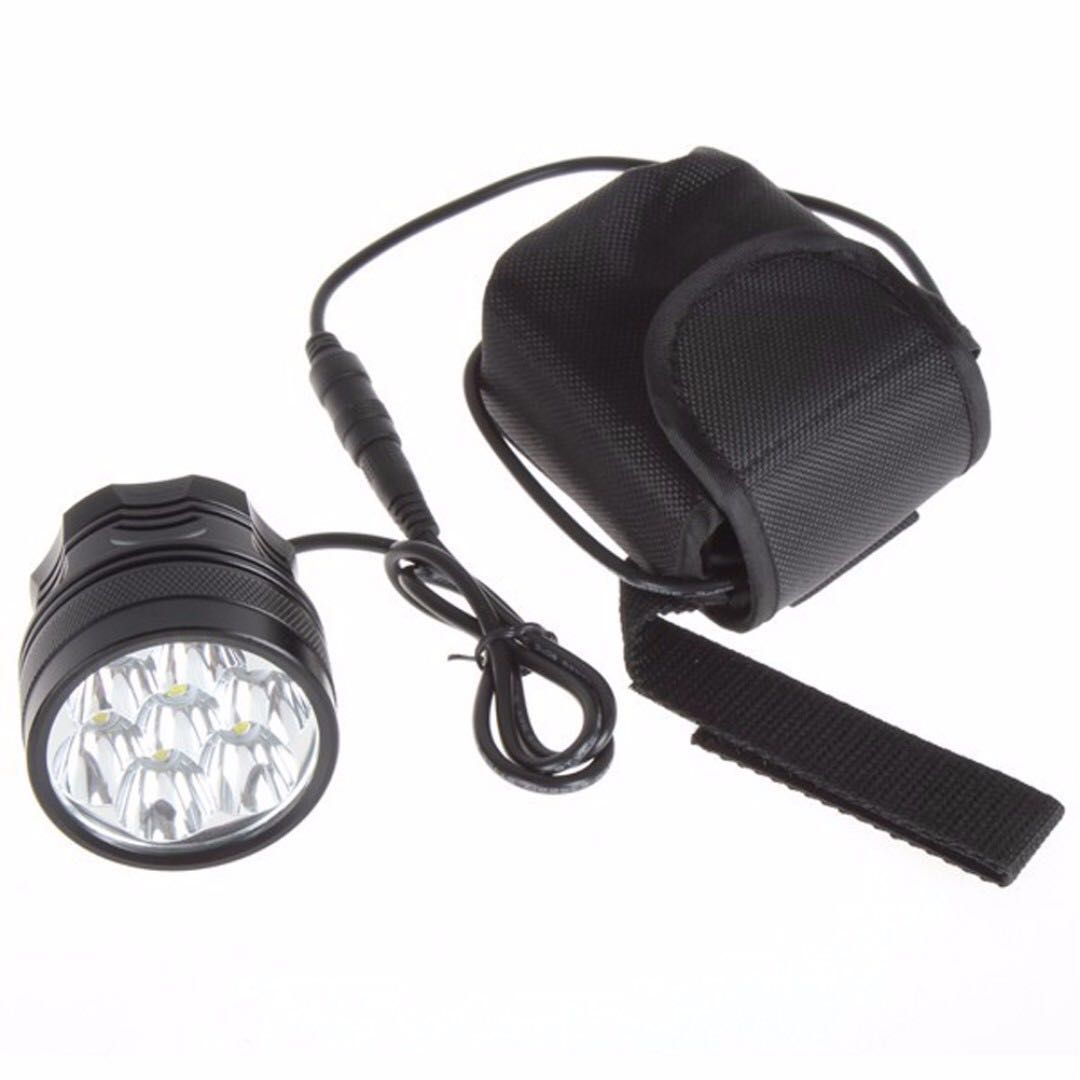 Led Bicycle Light 8400 Lumen 7x Xm L T6 Black Electronics Others Flameless Flickering Candle Power Boost Circuit On Carousell