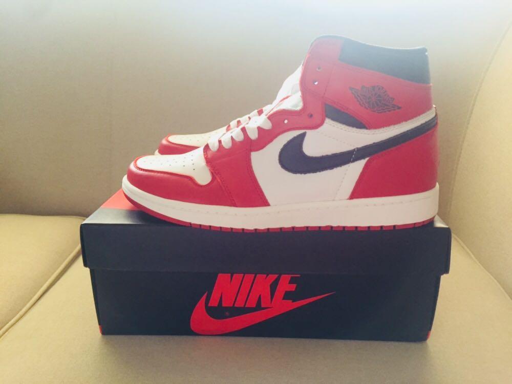 "c57747f5 Nike Air Jordan 1 Retro High OG ""Chicago"" [Ready Stock], Men's Fashion,  Footwear on Carousell"