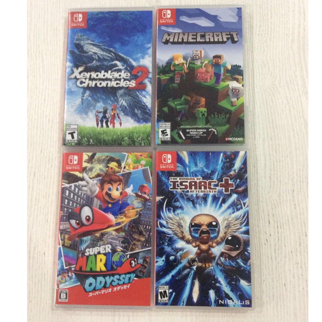 Nintendo Switch Xenoblade Chronicles 2 Super Mario Odyssey Binding The Of Isaac Minecraft Game Cartridge Video Gaming Games On Carousell