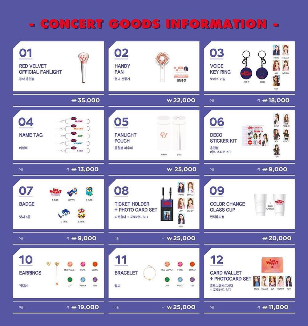 36fbca207b9 Order by 3 Aug 3pm  Red Velvet Red Mare Concert Official Goods ...