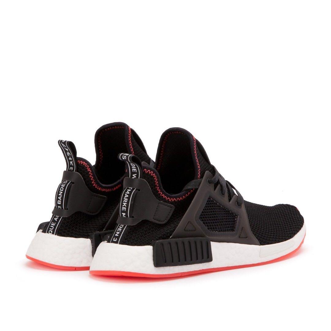 ORIGINAL Adidas Men NMD XR1 Black Core Black Solar Red New With Box