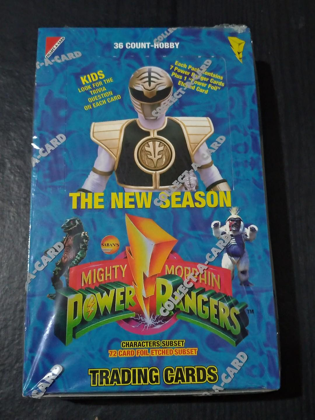 Factory Sealed Mighty Morphin Power Rangers Trading Cards Booster Box