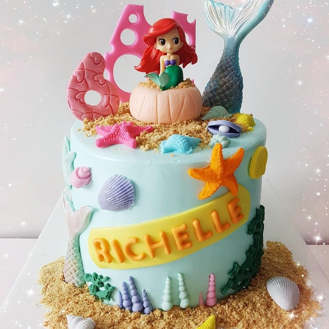 Stupendous Princess Ariel Little Mermaid Birthday Cake Food Drinks Baked Funny Birthday Cards Online Alyptdamsfinfo