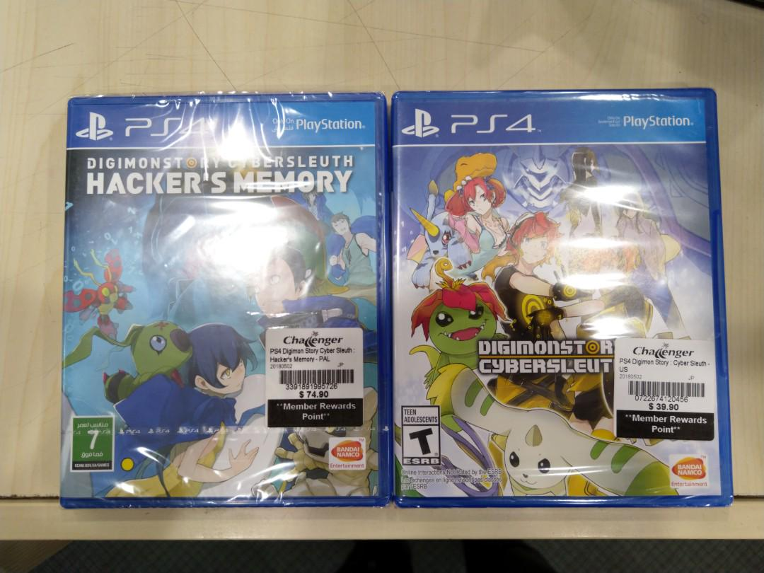 PS4 Digimon Story Cyber Sleuth Hacker's Memory, Toys & Games