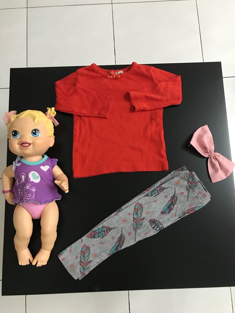 Baby & Toddler Clothing Lot Of 6 Baby Girls Hoodies Long Sleeve Tops Size 6m Fall/winter Girls' Clothing (newborn-5t)