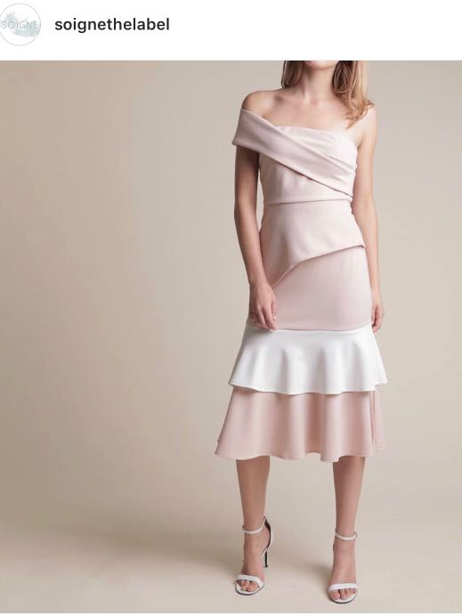 92a7fb7d107 Soigne the Label Tiered blush pink skirt