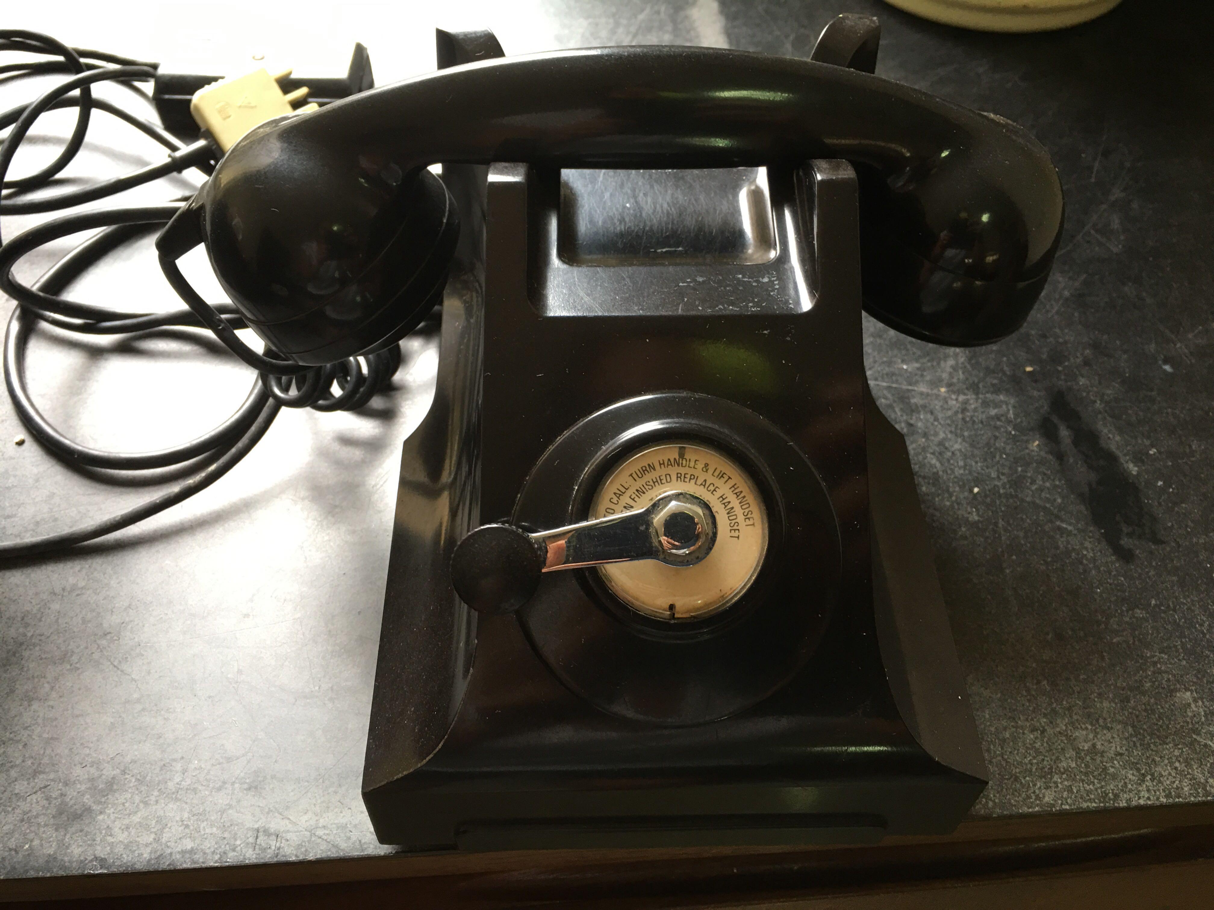 Telecom Australia pair of old telephones, Vintage