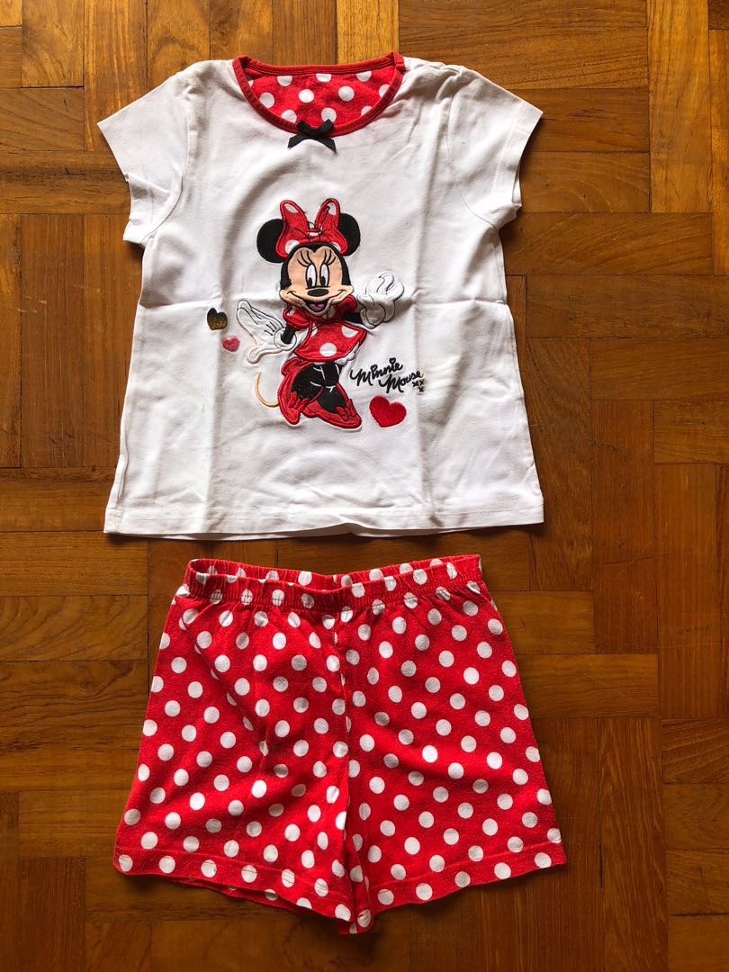 e06af9085 UK quality Minnie Mouse Disney shorts   top  pyjama Set