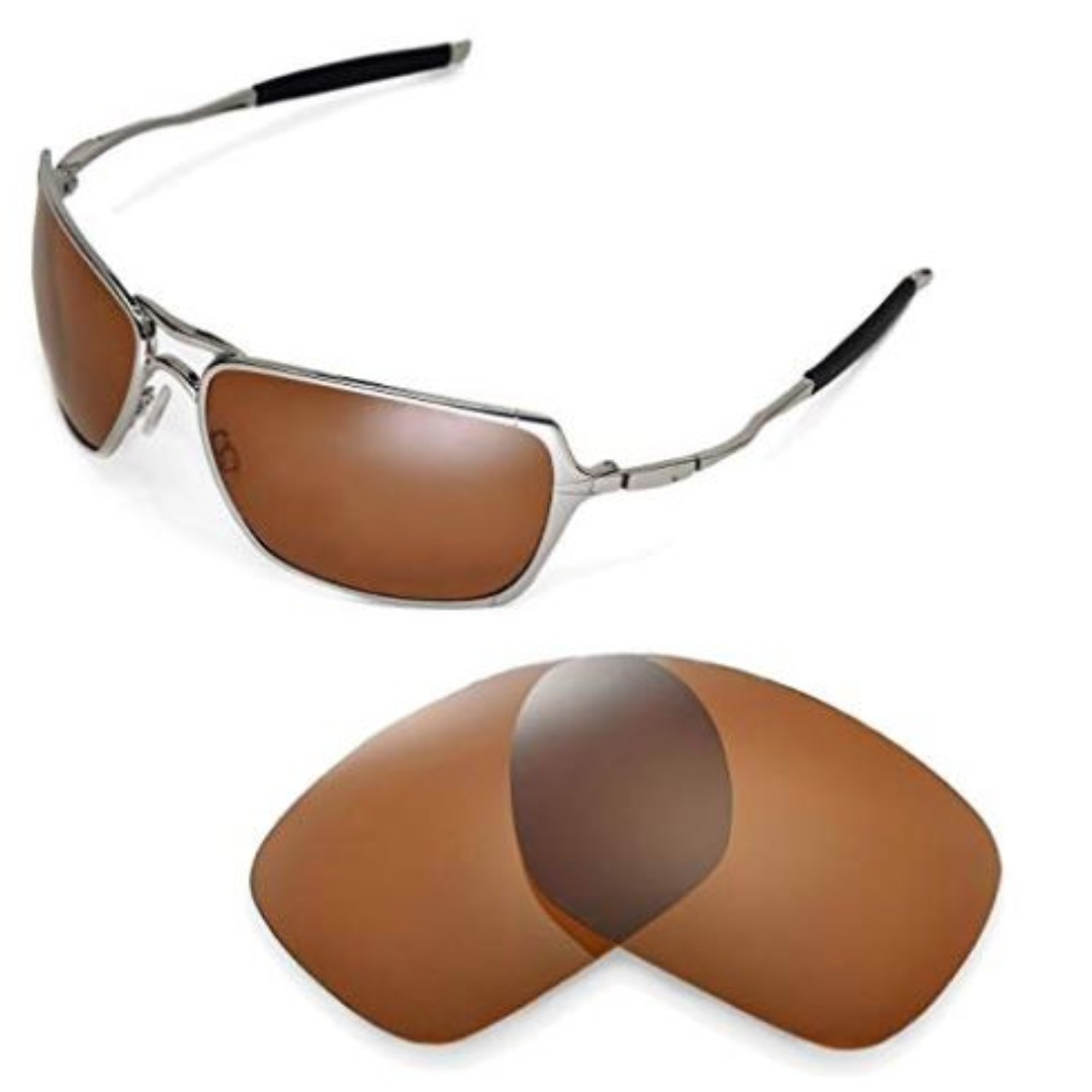 684a24639831e Walleva Polarized Brown Replacement Lenses for Oakley Inmate ...