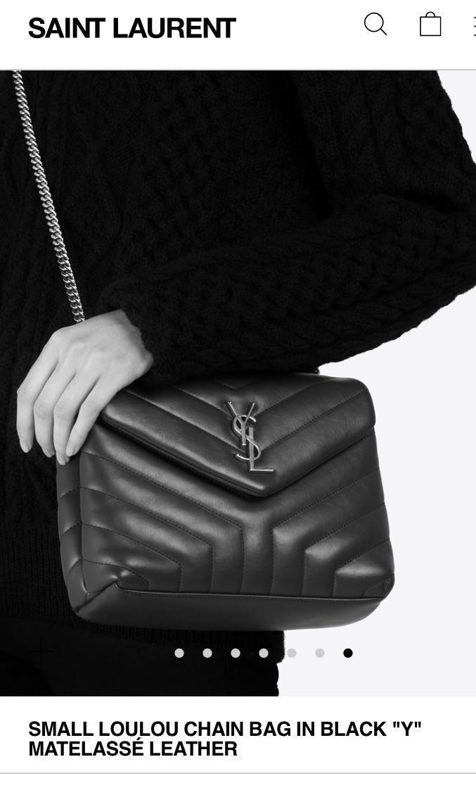 a51e7ea57c0 YSL SMALL LOULOU CHAIN BAG IN BLACK