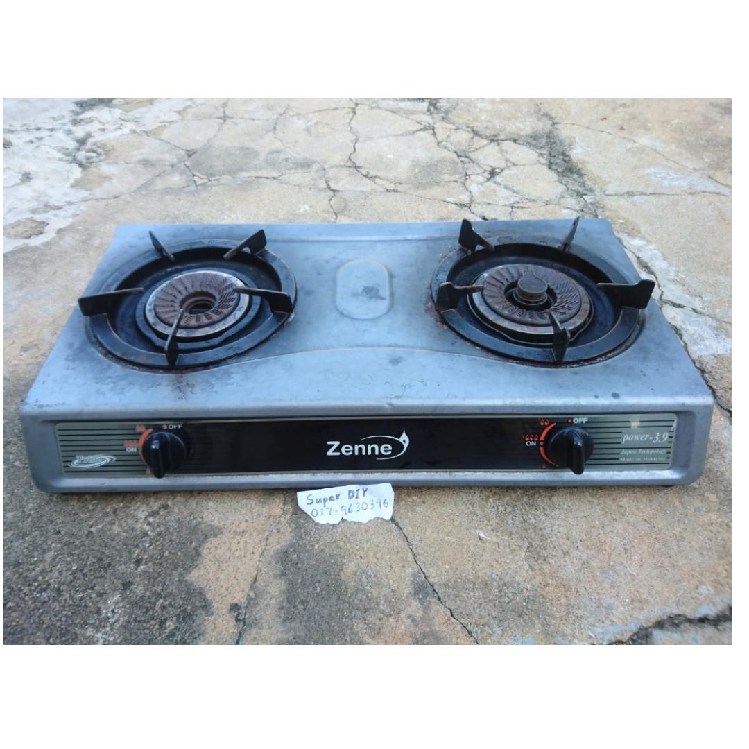 Original An Zenne Kgs301a Double Burner Gas Stove Dapur Masak Bejenama Jepun Peralatan Di Carou