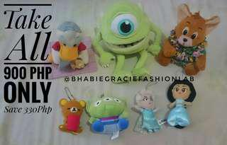 Assorted Character Stuffed Toys Bundle Sale