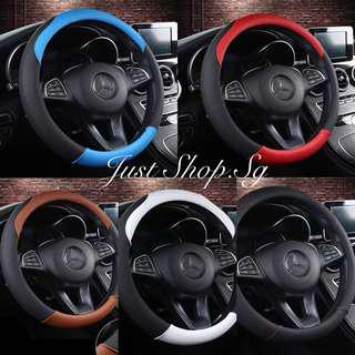 Cross Grip Sport Leather Steering Cover