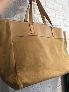 Saint Laurent East West Calfskin Suede reversible tote bag two sides handbag