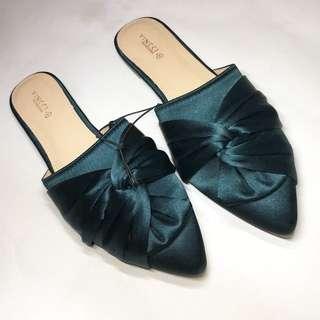 Vincci Emerald Green Mule Shoe Shoes