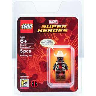 LEGO SDCC 2018 Exclusive MARVEL Super Heroes Sheriff Deadpool
