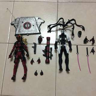 Marvel select lady deadpool & ML venompool set