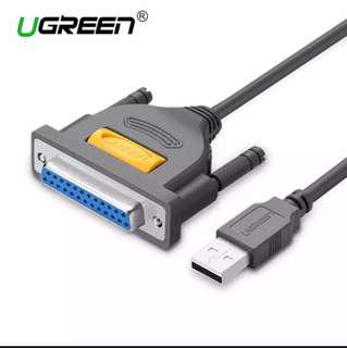 USB to DB25 Female Parallel IEEE 1284 Printer Cable Adapter Cable Supports Windows, Mac System