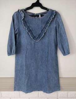 Zara Boxy Denim Dress (Authentic)