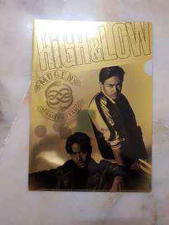 High&Low Mugen Racing Team A4 Gold File Folder