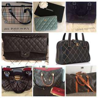 💯% Authentic Chanel, LV, Gucci, Burberry Bags & Wallets