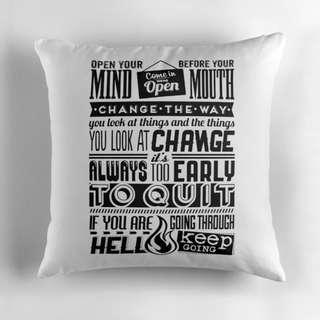 🚚 Typographic - Decorative Cushion Pillow