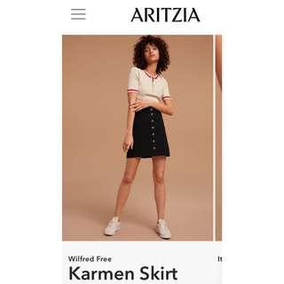 BNWT Aritzia Wilfred Free Karmen Skirt