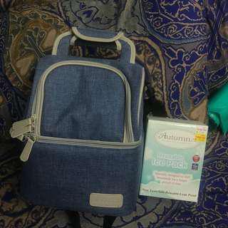 Breast pump storage & ice pack