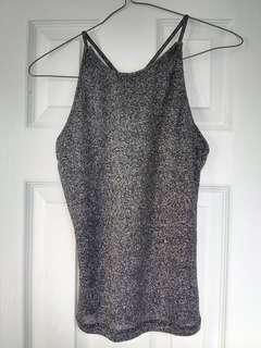 Sparky black and grey tank