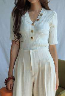 STYLENANDA Cream Knit Top