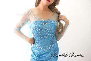 FROZEN Queen Elsa Costume Rental Halloween Cosplay (For Rent)
