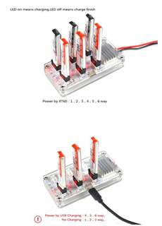 Kingkong/LDARC TINY 6/6x 7 1s Battery Charging Board For Eachine E010 E010C Blade Inductrix RC Drone